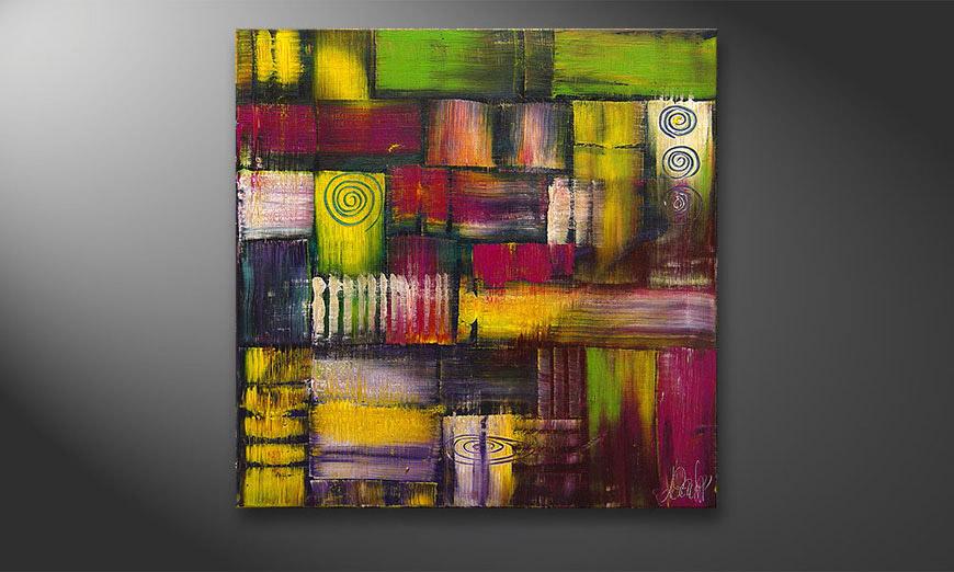 El cuadro Sunny Circles 70x70x2cm