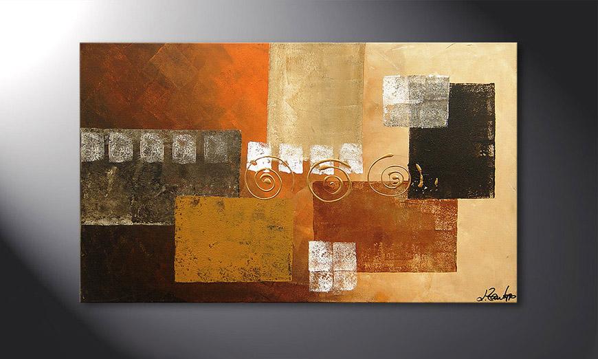El cuadro Sunny Swirl 100x60x2cm