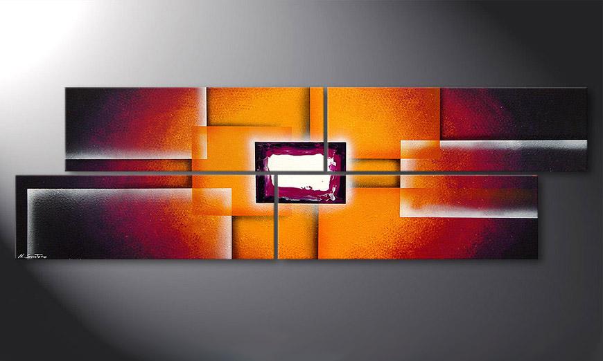 El cuadro Sunrise Construction 200x60x2cm