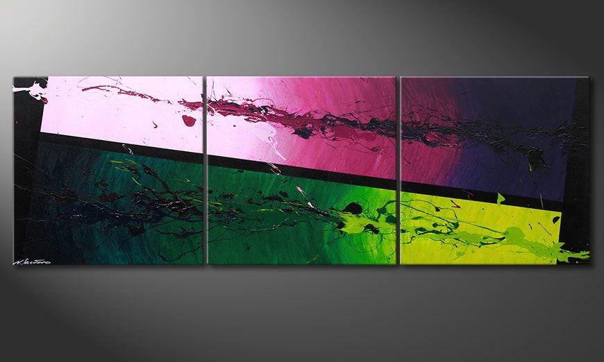 El cuadro Tropic Splash 210x70x2cm