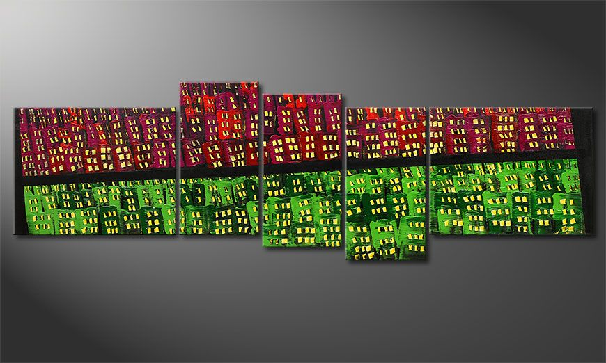 El cuadro Urban Oasis 210x70x2cm