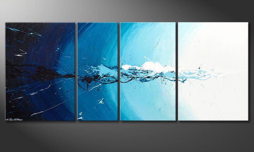 El cuadro Water Splash de 170x70x2cm