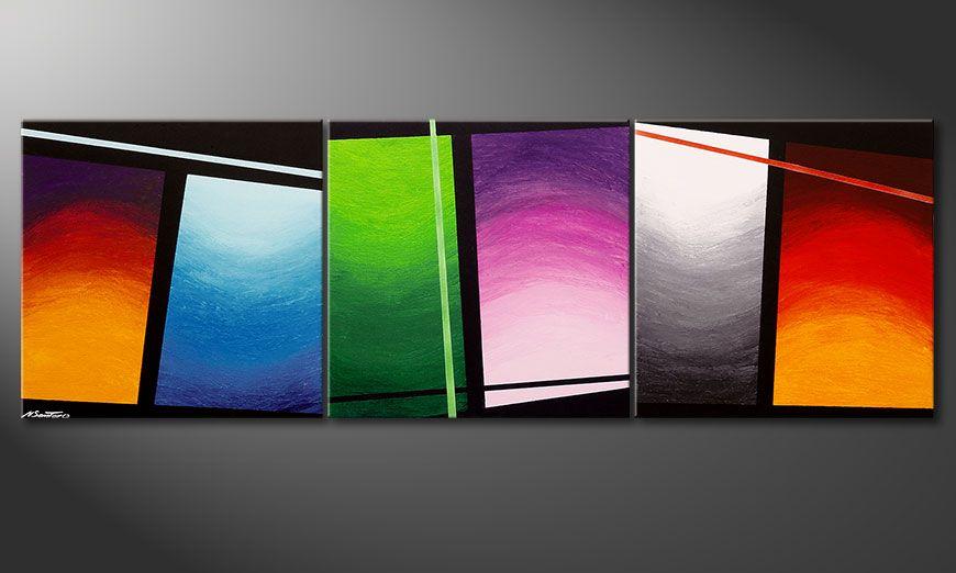 El cuadro Wave of Colors 210x70x2cm