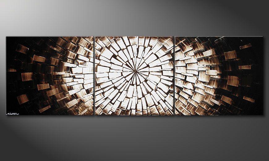 El cuadro XXL Center of Babylon 260x80x2cm