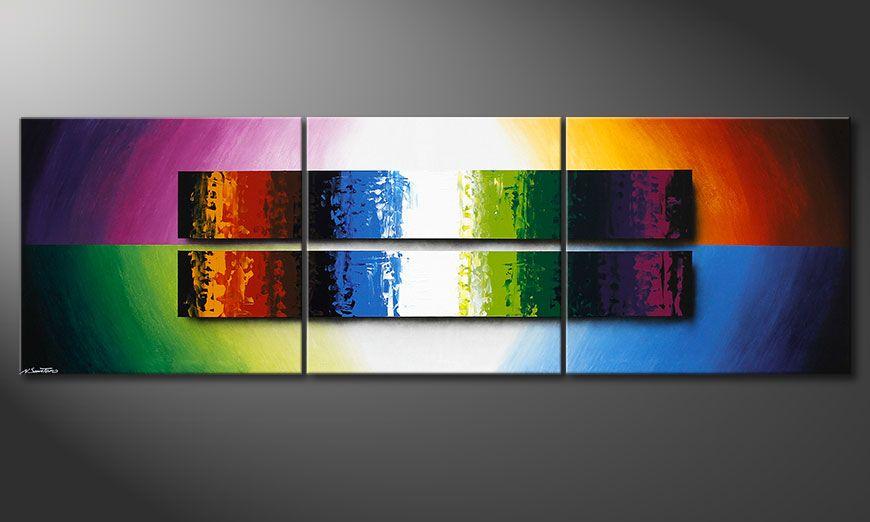 El cuadro-XXL Expression of Colours 260x80x2cm