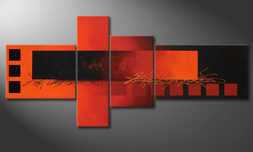 El cuadro-XXL Fiery Emotions 220x100x2cm
