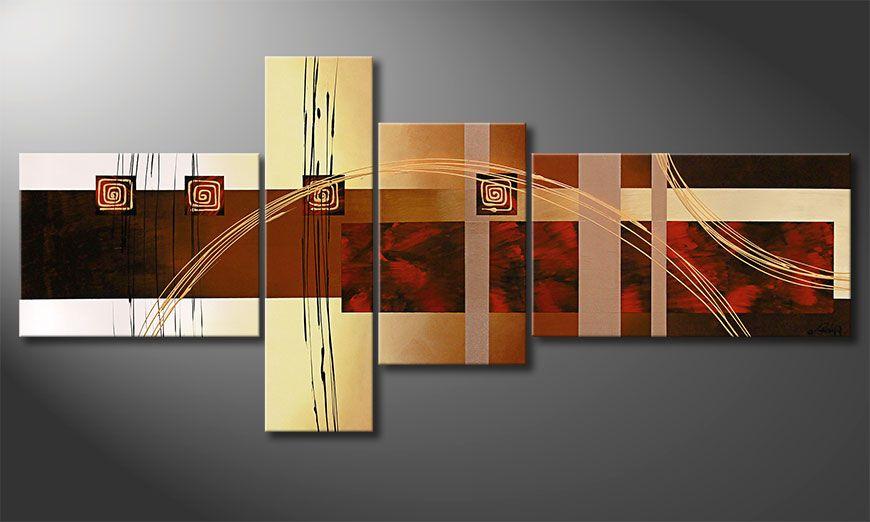 El cuadro-XXL Golden Ways 220x100x2cm