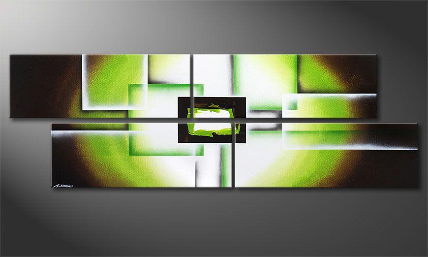 El cuadro-XXL Green Spirit 245x80x2cm