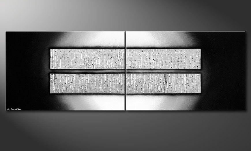 El cuadro XXL de varias piezas Crushed Ice 240x80x2cm