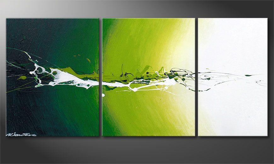 El cuadro abstracto Power of Nature 110x50x2cm