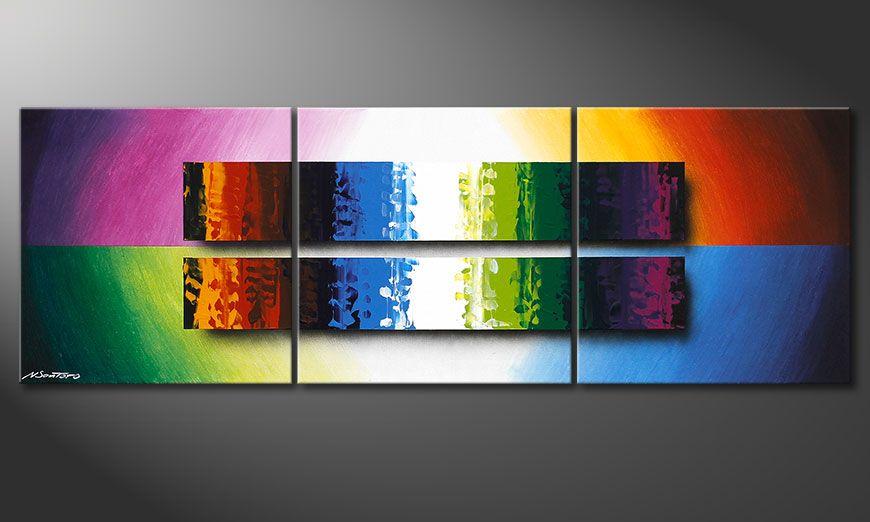 El cuadro colorido Expression of Colours 150x50x2cm