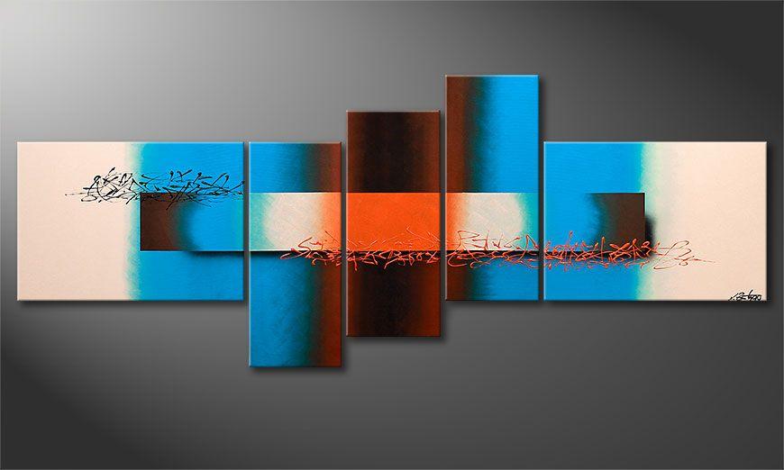 El cuadro de gran formato Summer Spirit 230x90x2cm