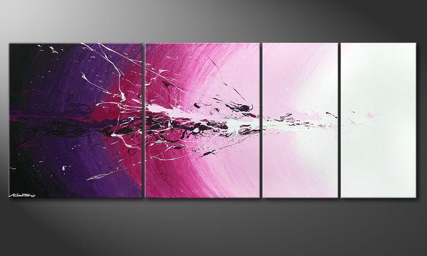 El cuadro de varias piezas Cosmic Splash 210x80x2cm