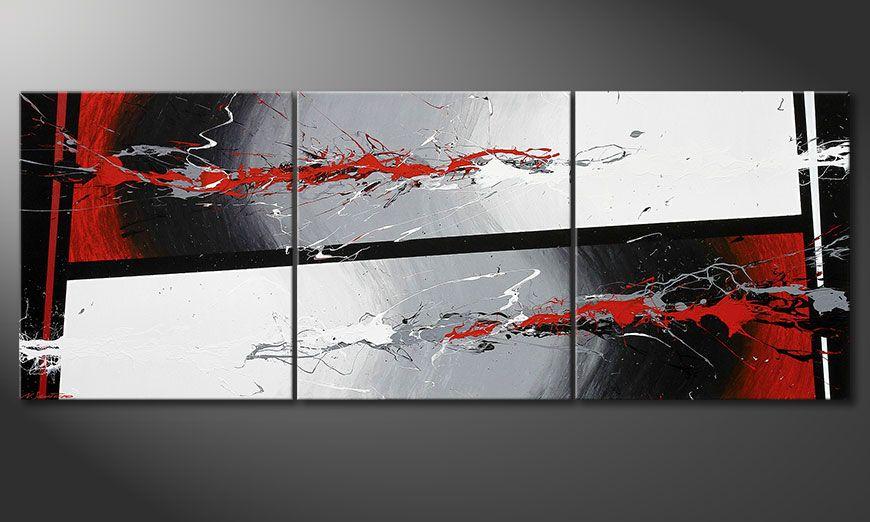 El cuadro de varias piezas Powerful Contrast 240x90x2cm