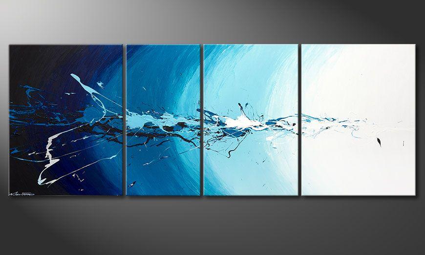El cuadro de varias piezas Water Splash 210x80x2cm