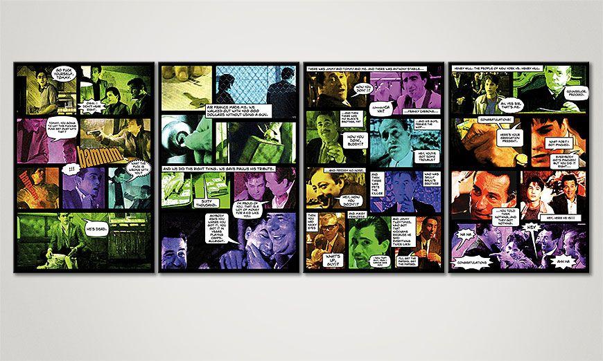 El cuadro en estilo cómic Good Fellas II 160x60x2cm