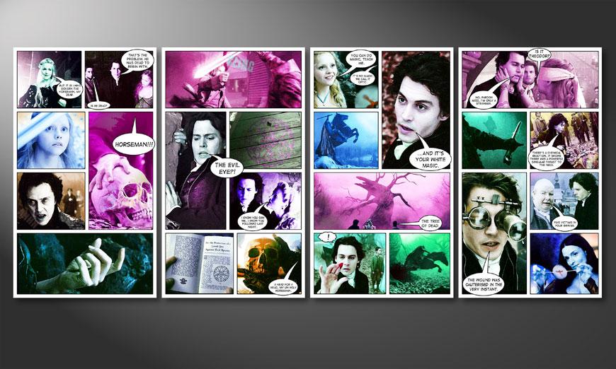 El cuadro impreso Sleepy Hollow 160x70x2cm