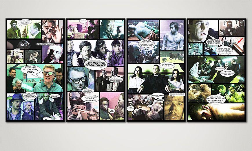 El cuadro impreso sobre lienzo Snatch 160x70x2cm