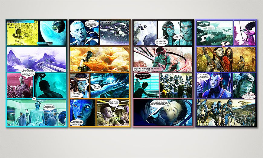 El cuadro moderno Avatar 160x70x2cm