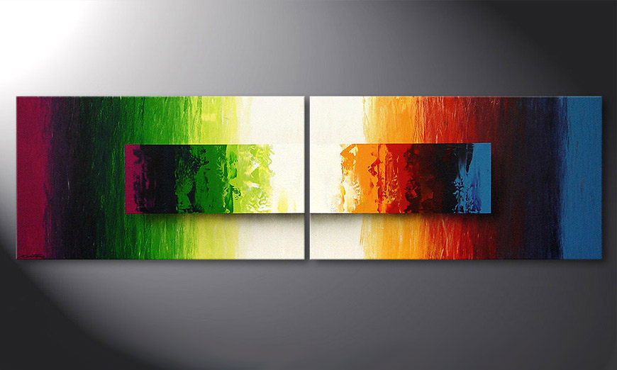 El cuadro moderno Battle of Colours 200x60x2cm