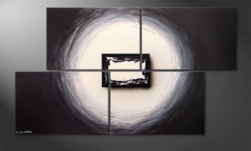 El cuadro moderno Black and White 140x80x2cm