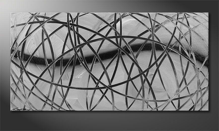 El cuadro moderno Broken White 100x50x2cm