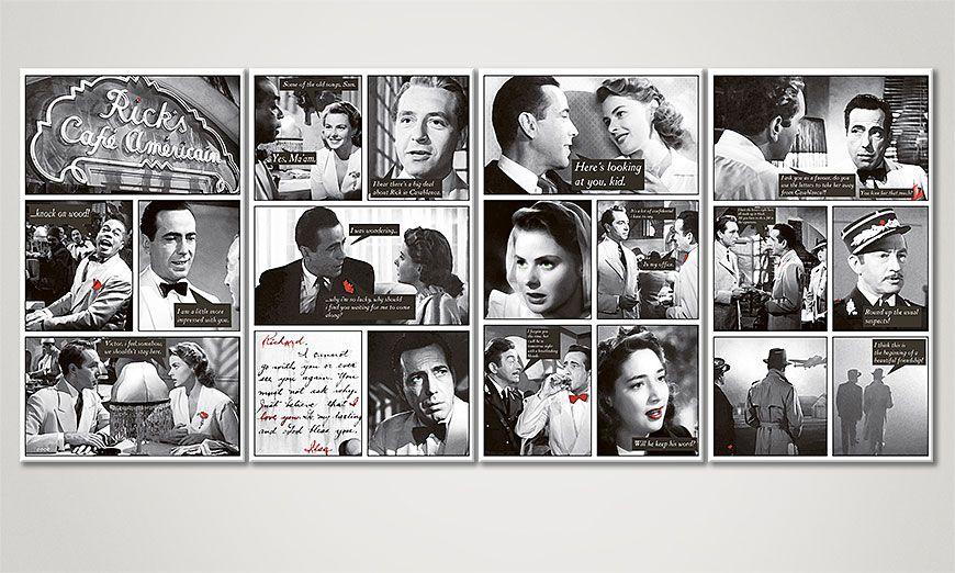 El cuadro moderno Casablanca 160x70x2cm