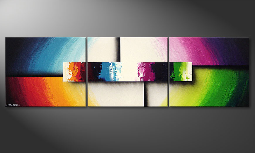 El cuadro moderno Colorful Life II 210x60x2cm