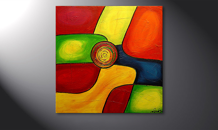 El cuadro moderno Colors 80x80x2cm
