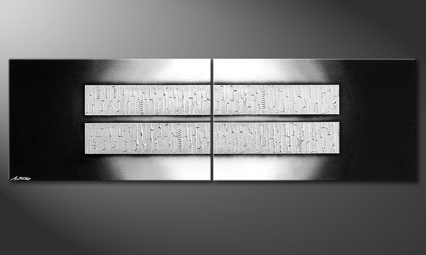 El cuadro moderno Crushed Ice 200x60x2cm