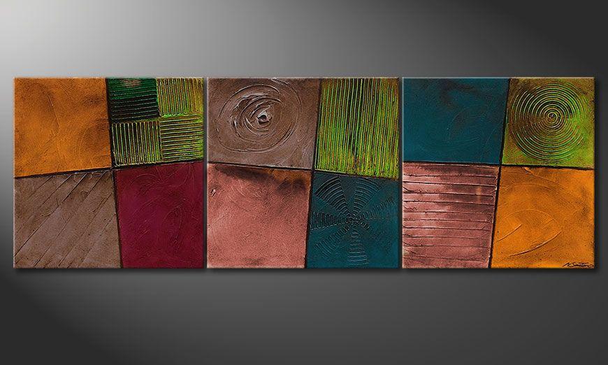 El cuadro moderno Facets of Life 210x70x2cm