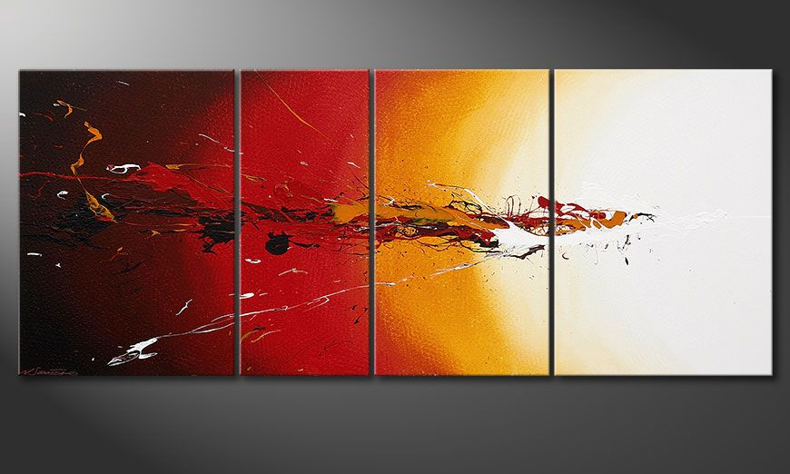 El cuadro moderno Fiery Splash 170x70x2cm