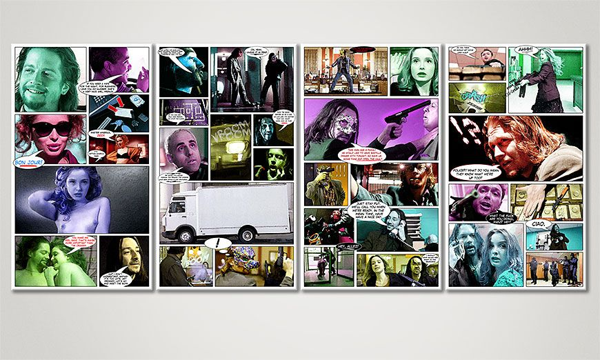 El cuadro moderno Killing Zoe 160x70x2cm