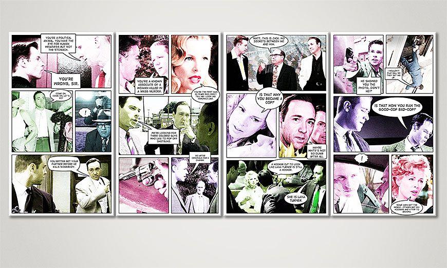 El cuadro moderno LA Confidential 160x70x2cm