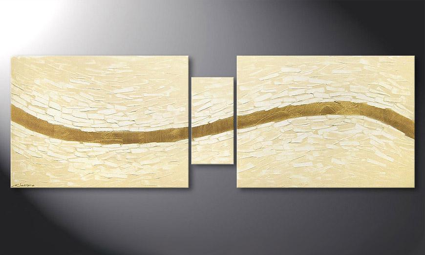 El cuadro moderno Mellow River 180x60x2cm