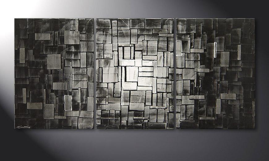 El cuadro moderno Moon Cubes 150x70x2cm