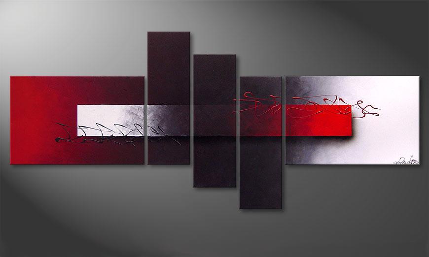 El cuadro moderno Opposites Attract 180x80x2cm