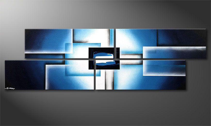 El cuadro moderno Polar Glow 200x60x2cm