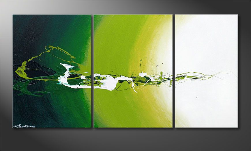 El cuadro moderno Power of Nature 140x70x2cm