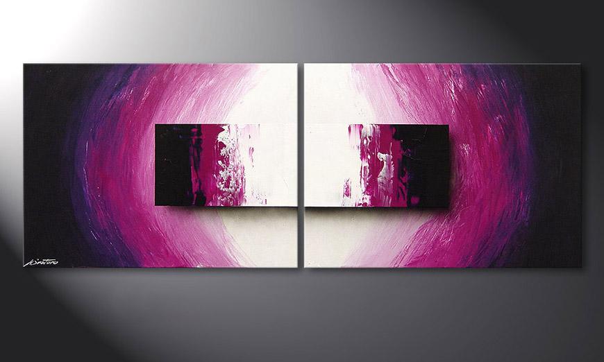 El cuadro moderno Purple Rain 160x60x2cm