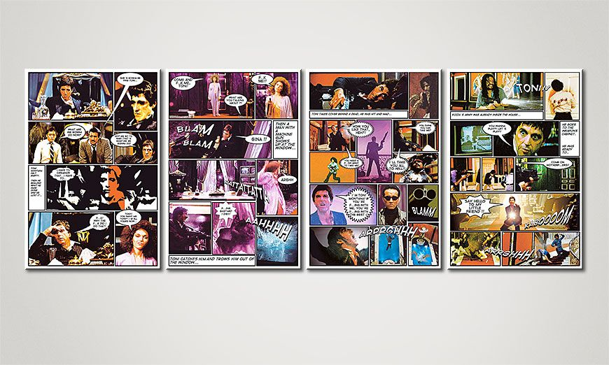 El cuadro moderno Scarface 160x60x2cm