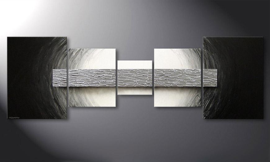 El cuadro moderno Silver Bar 210x70x2cm