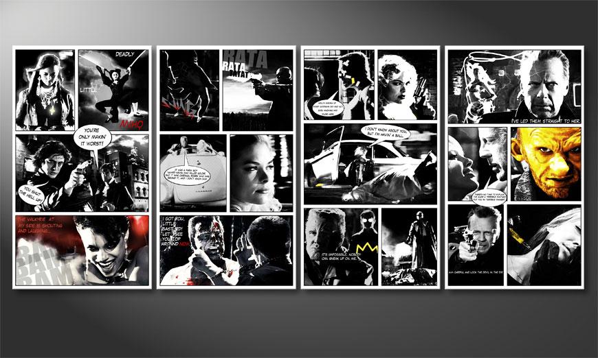 El cuadro moderno Sin City 160x70x2cm