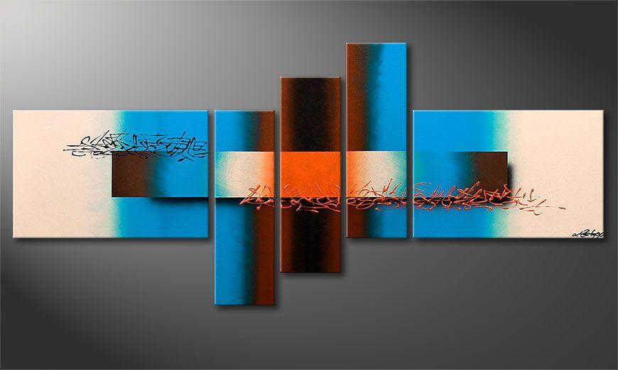 El cuadro moderno Summer Spirit 180x80x2cm