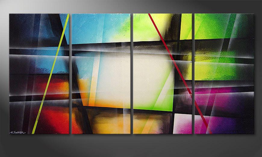 El cuadro moderno Window to Rainbow 160x80x2cm