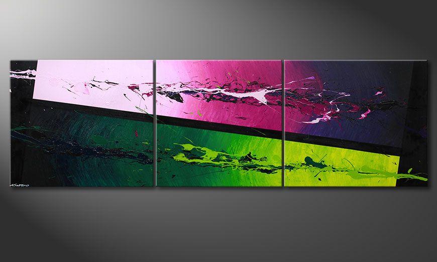 El cuadro moderno XXL Tropic Splash 260x80x2cm