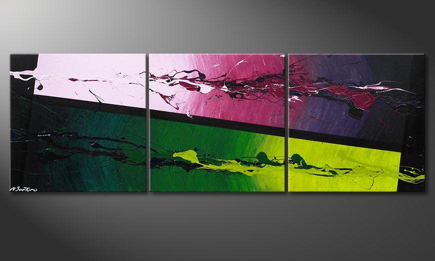 El cuadro moderno en acrílico Tropic Splash 150x50x2cm