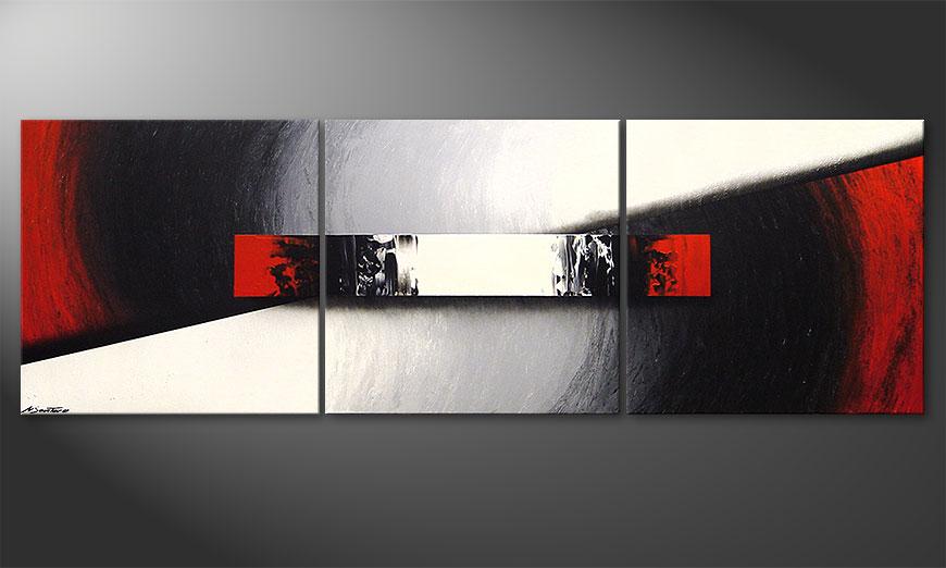 El cuadro para la sala Awakening of Spirit 210x70x2cm