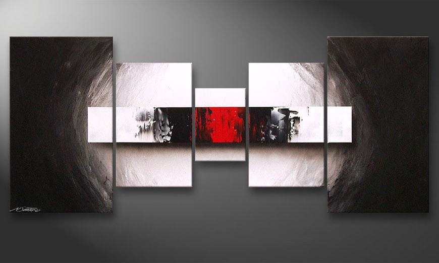 El cuadro para la sala End of Contrast 160x70x2cm