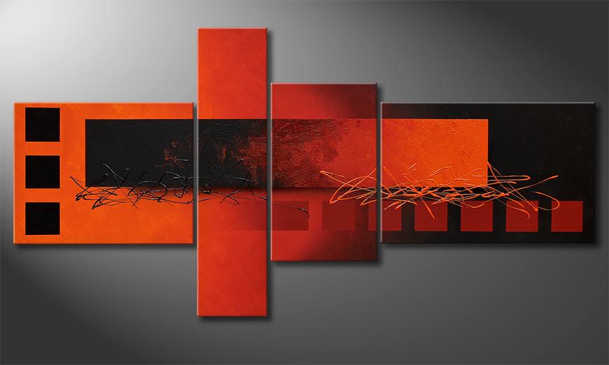 El cuadro para la sala Fiery Emotions 160x80x2cm
